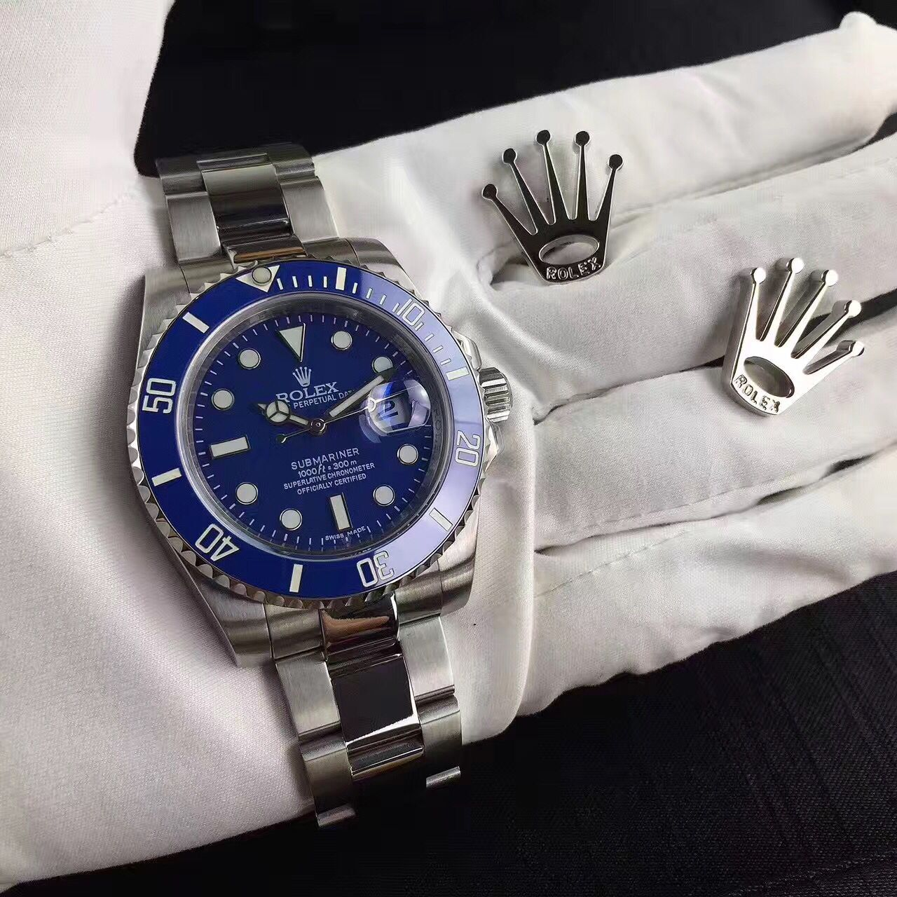 High Quality Oyster Perpetua Blue Dial Watch - FashionBeast