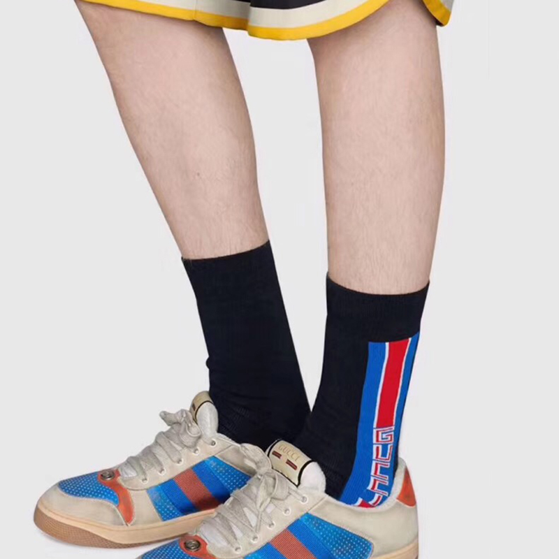 Gucci GG Cotton Socks with Gucci Stripe - FashionBeast