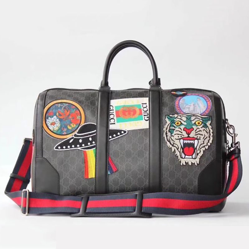 Gucci Courrier GG Supreme Suitcase - FashionBeast