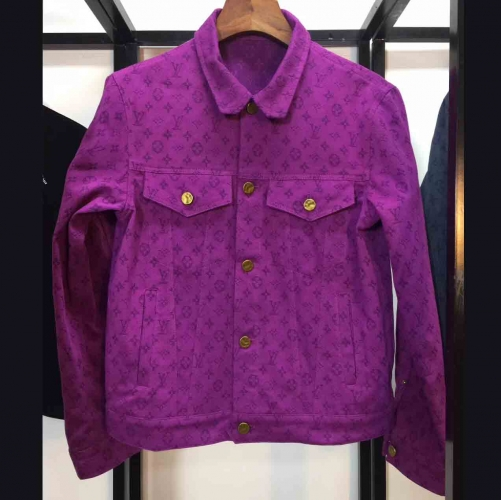Louis Vuitton Monogram Denim Jacket in Purple - FashionBeast
