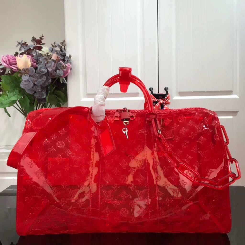 Louis Vuitton Keepall Bandouliere 50 Luggage in Red - FashionBeast