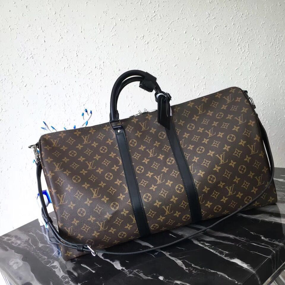 Louis Vuitton Keepall Bandouliere 55 Monogram Macassar Canvas - FashionBeast