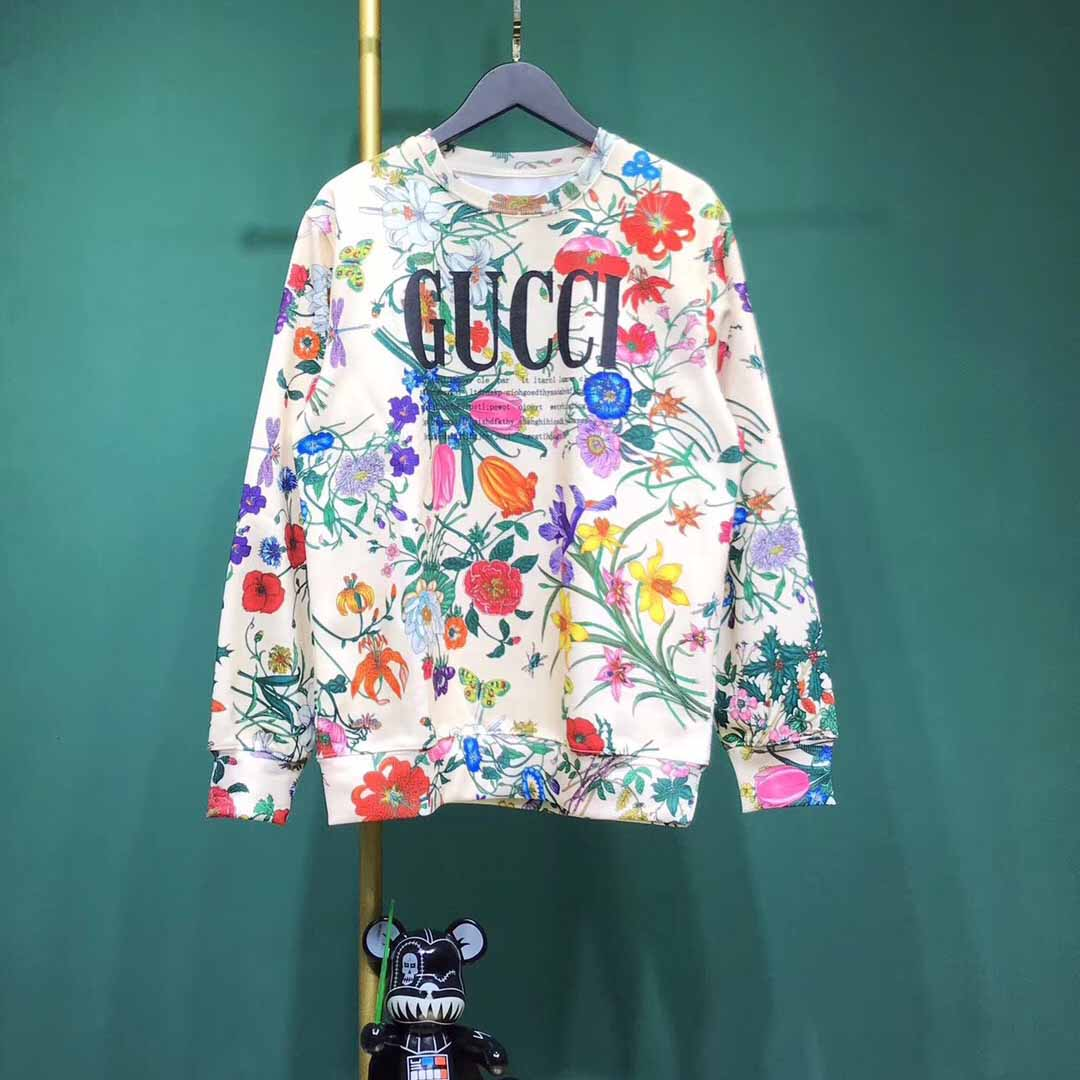Gucci Sweatshirt with Flora Gucci Print - FashionBeast