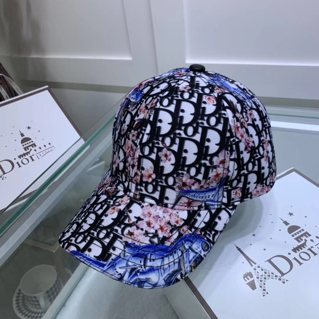 Dior White Baseball Cap with Dior-and-Sorayama Print - FashionBeast
