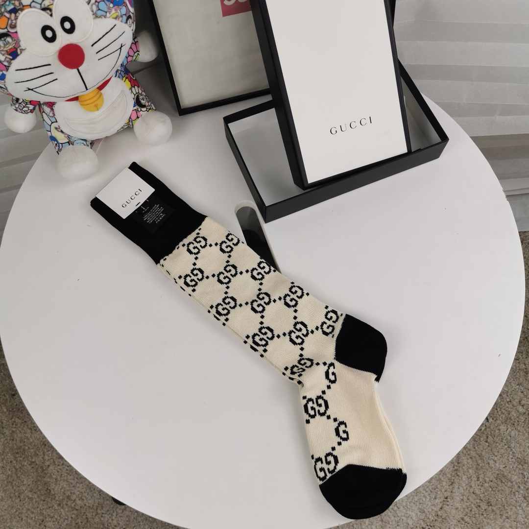 Gucci GG Cotton Socks  - FashionBeast