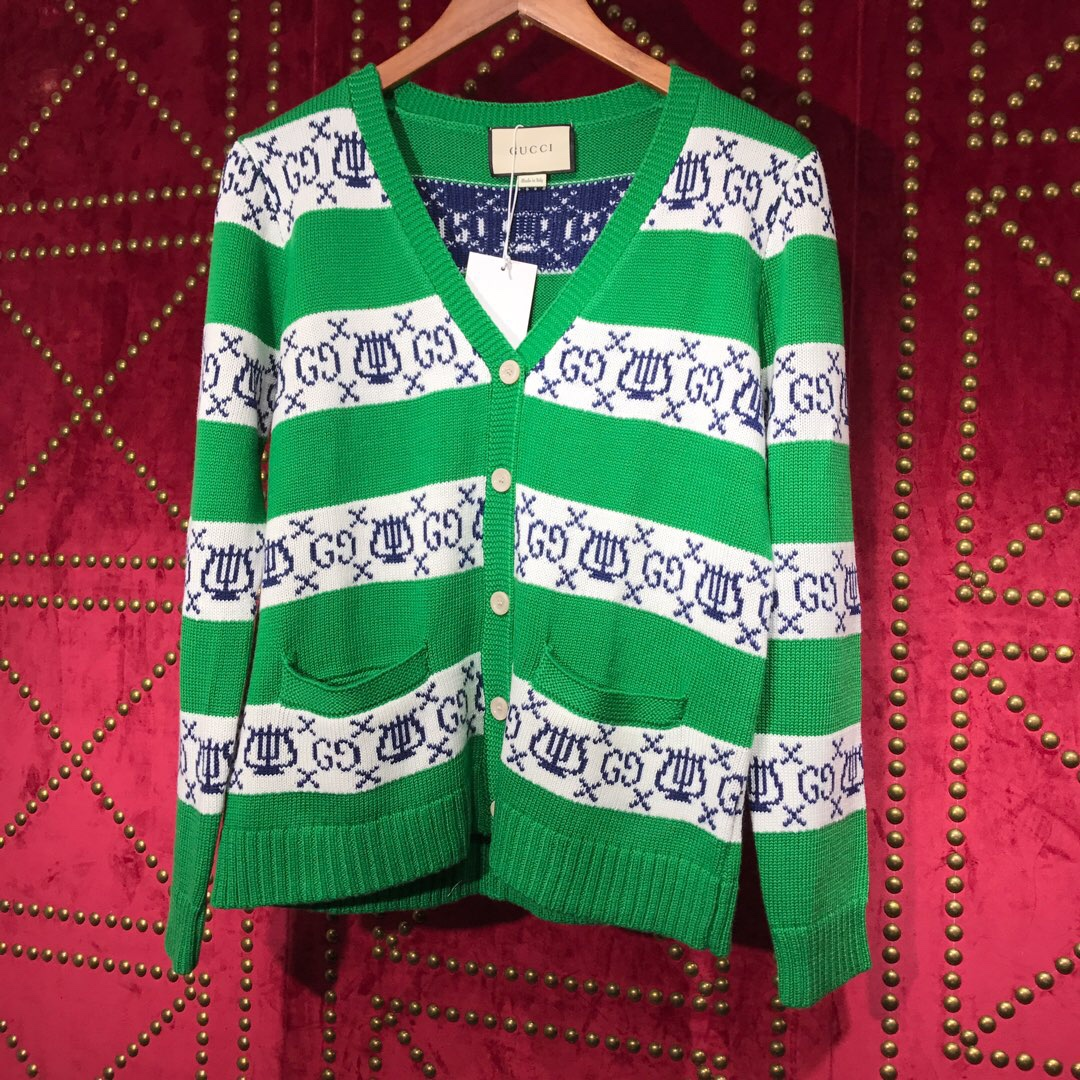 Gucci GG Lyre Striped Jacquard Cardigan - FashionBeast
