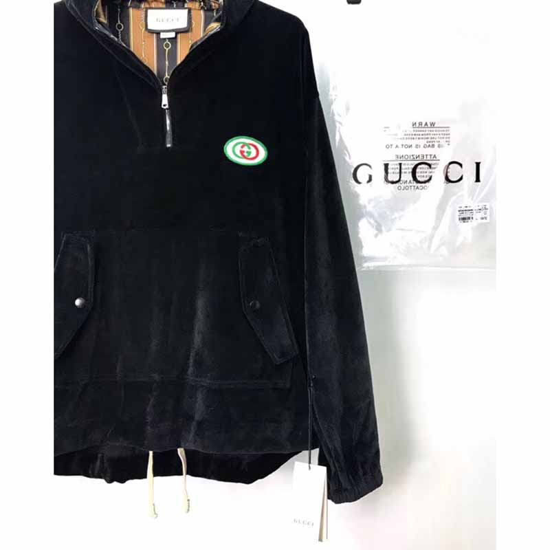 Gucci Hooded Chenille Jacket with Patch - FashionBeast