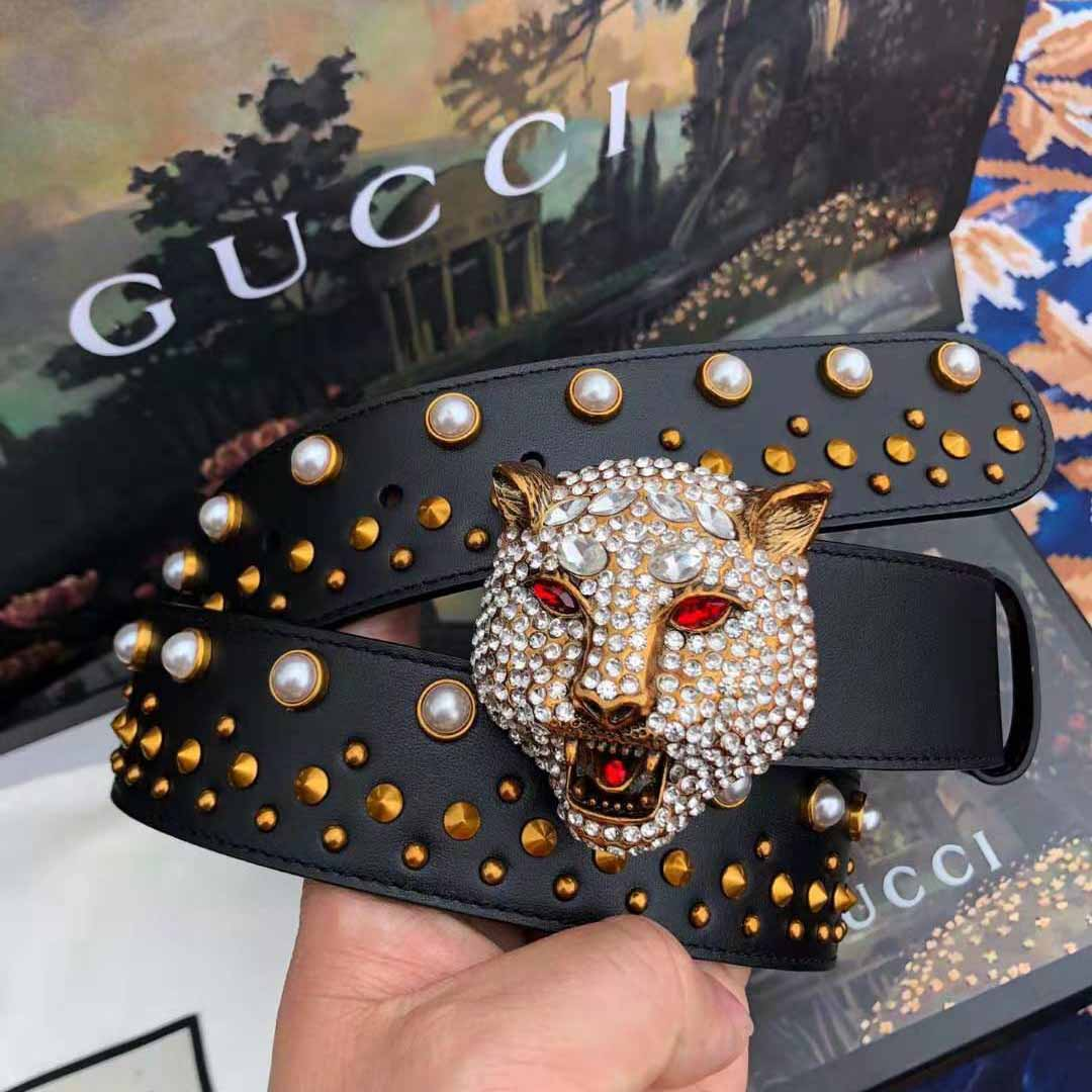Gucci Leather Belt with Tiger Buckle - FashionBeast