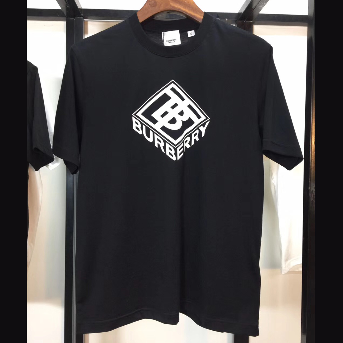 Burberry Logo Graphic Cotton T-shirt Black - FashionBeast
