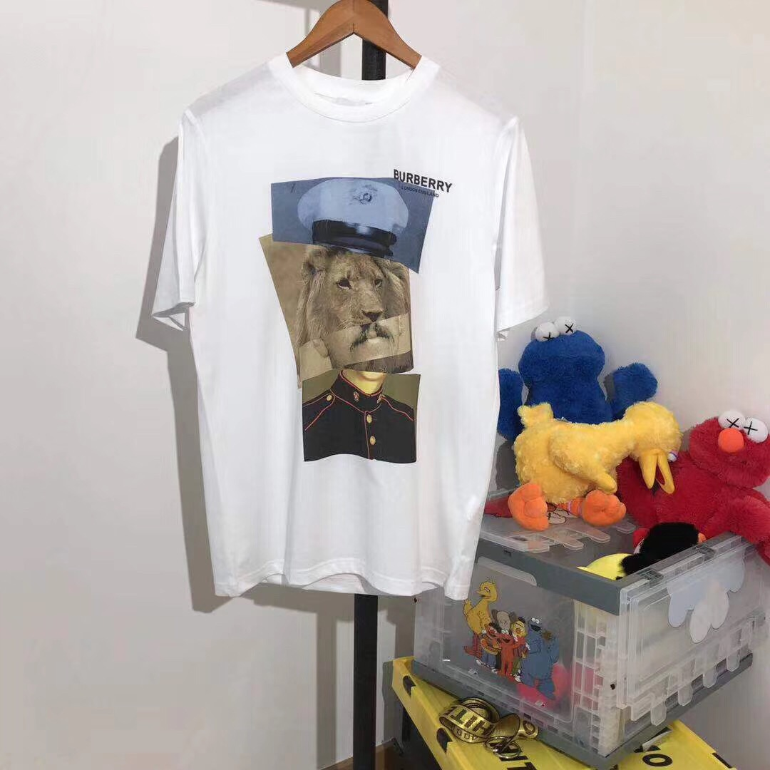Burberry Montage Lion Print Cotton T-shirt - FashionBeast