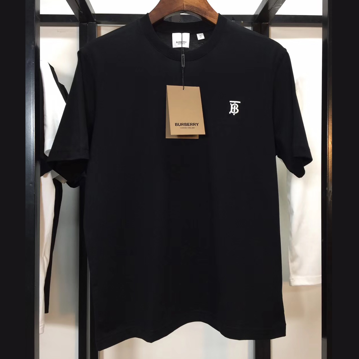 Burberry Monogram Motif Cotton T-shirt Black - FashionBeast