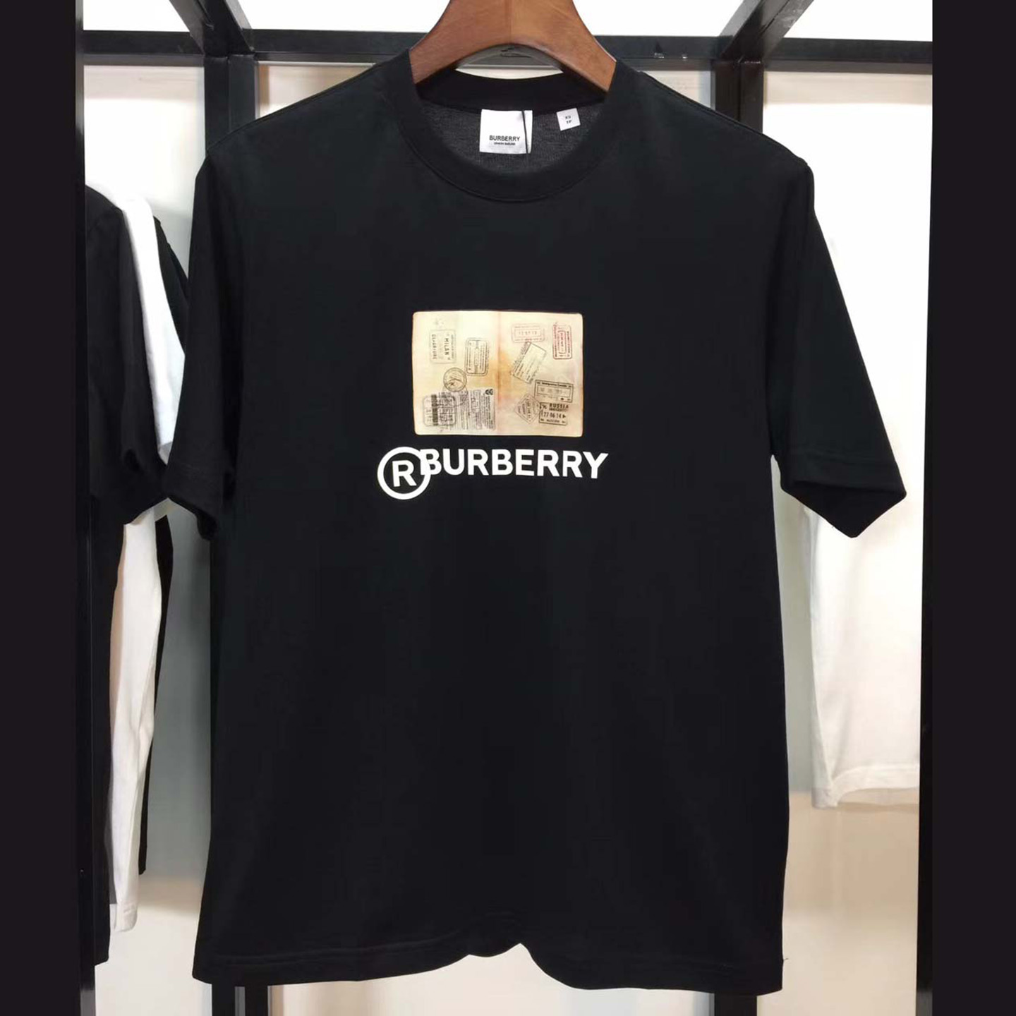 Burberry Print Cotton T-shirt Black - FashionBeast