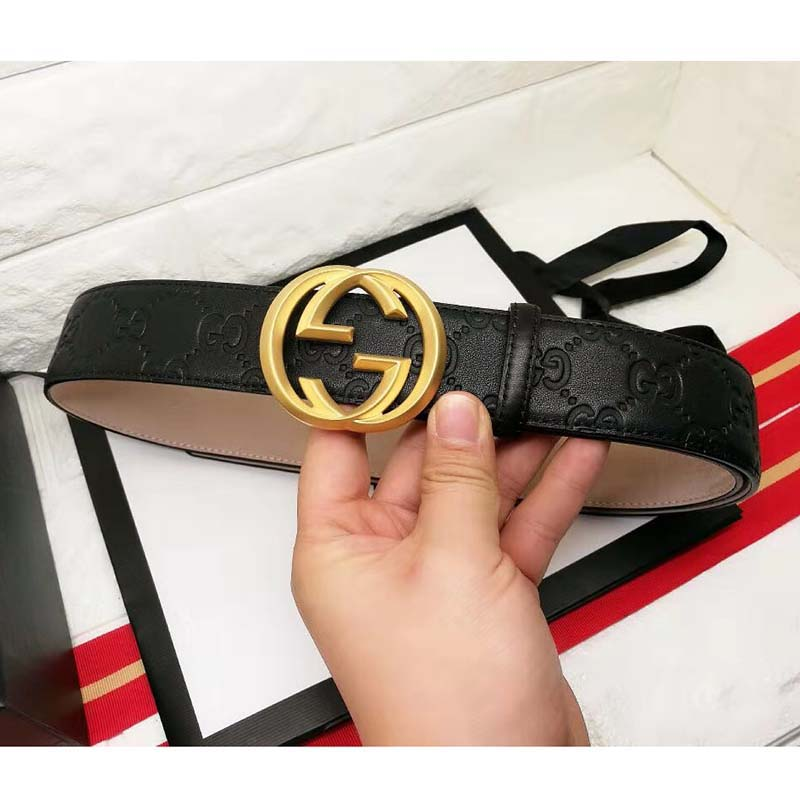 Gucci Signature Belt with Golden Buckle - FashionBeast