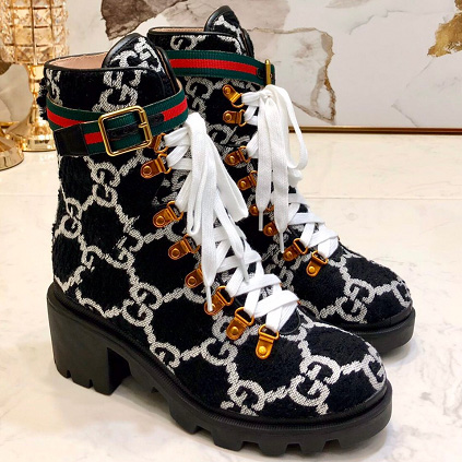 Gucci GG Wool Ankle Boot in Black - FashionBeast