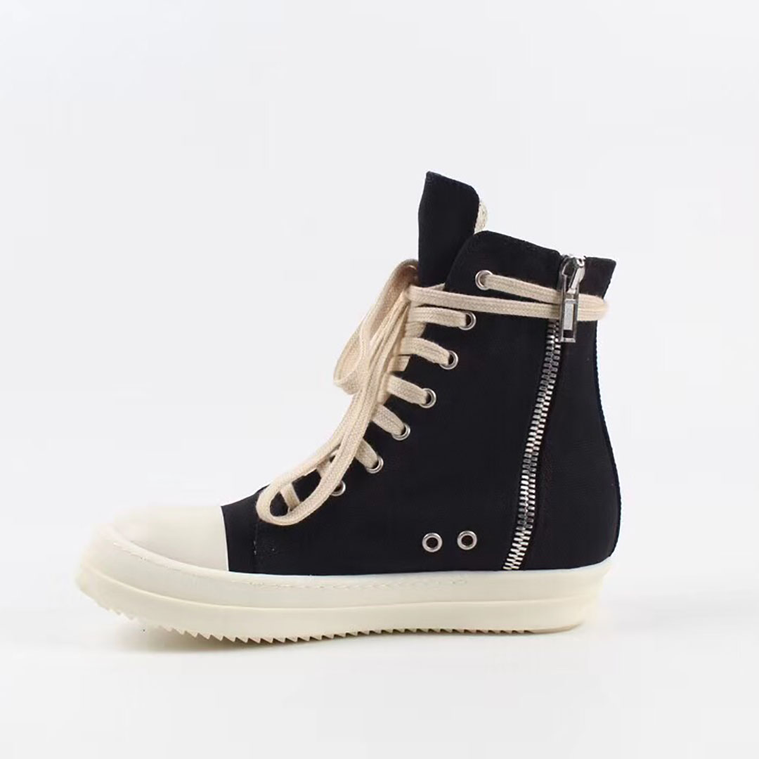 Canvas High Top Sneakers - FashionBeast