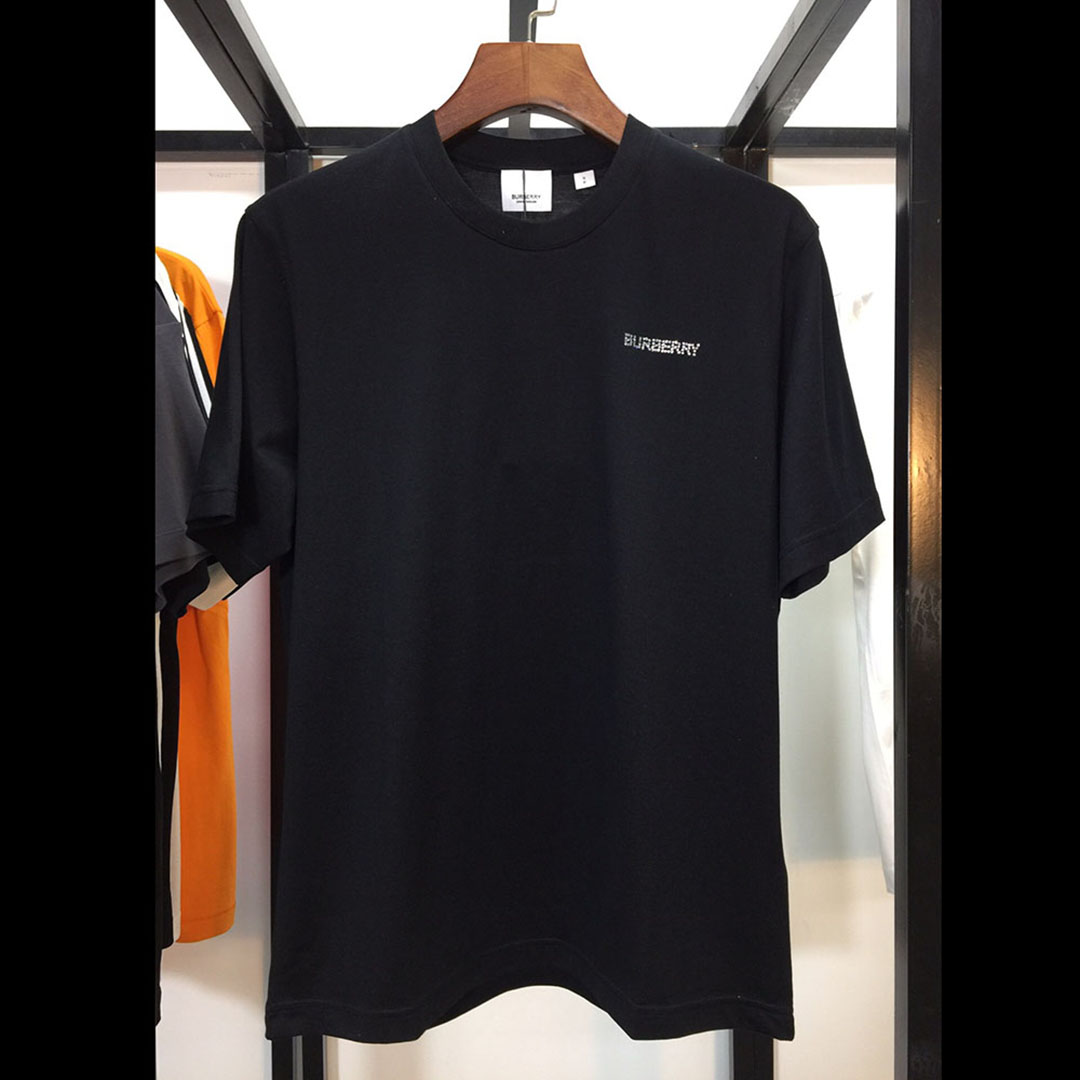 Burberry Rhinestone Logo T-shirt in Black - FashionBeast