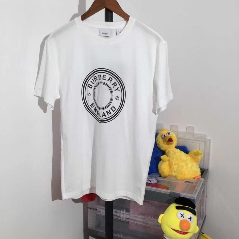 Burberry Logo Print Cotton T-shirt in White - FashionBeast