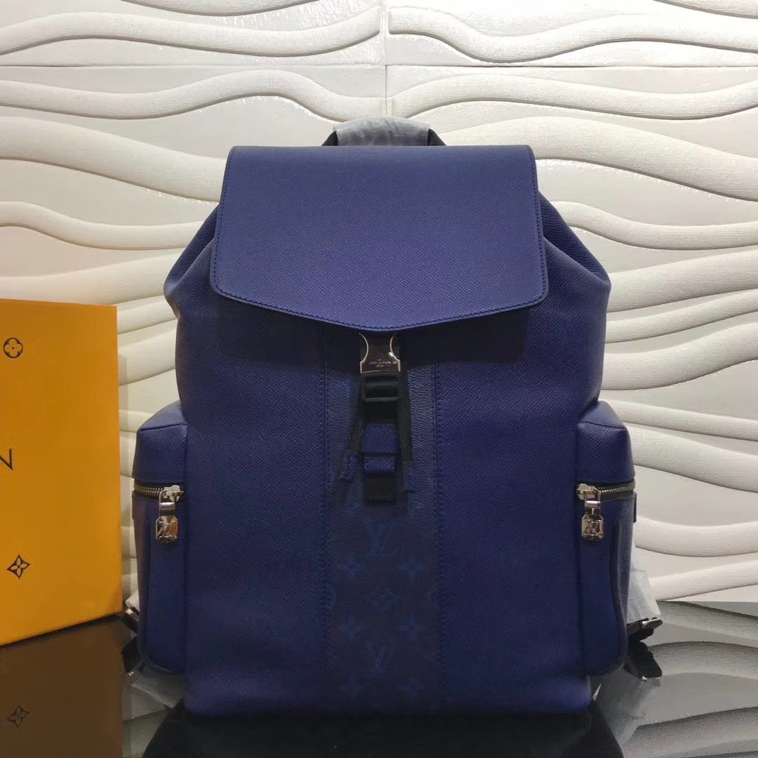 Monogram Blue Backpack Bag - FashionBeast