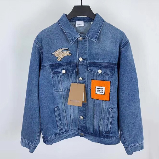 Burberry Logo Graphic Applique Denim Jacket - FashionBeast