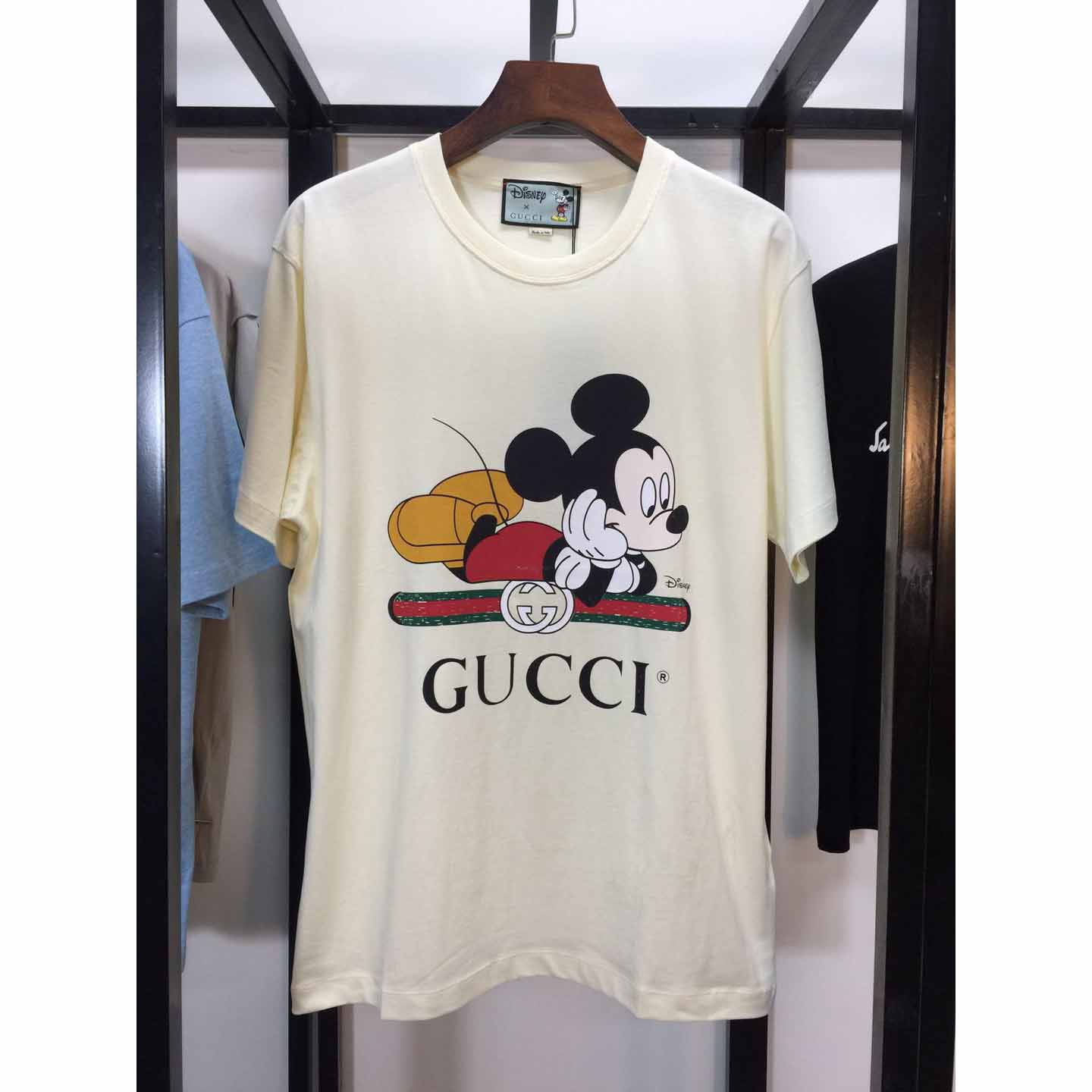 Gucci T-shirt With Mickey Print,T-Shirts & Polos