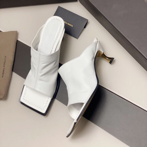 Leather Mules with Square Sole - FashionBeast