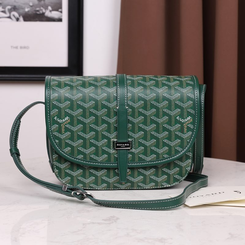 Goyardine Belvedere Small Messenger Bag Green - FashionBeast