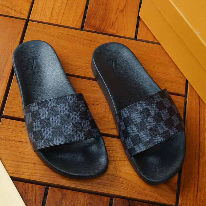 Black Damier Sandals - FashionBeast