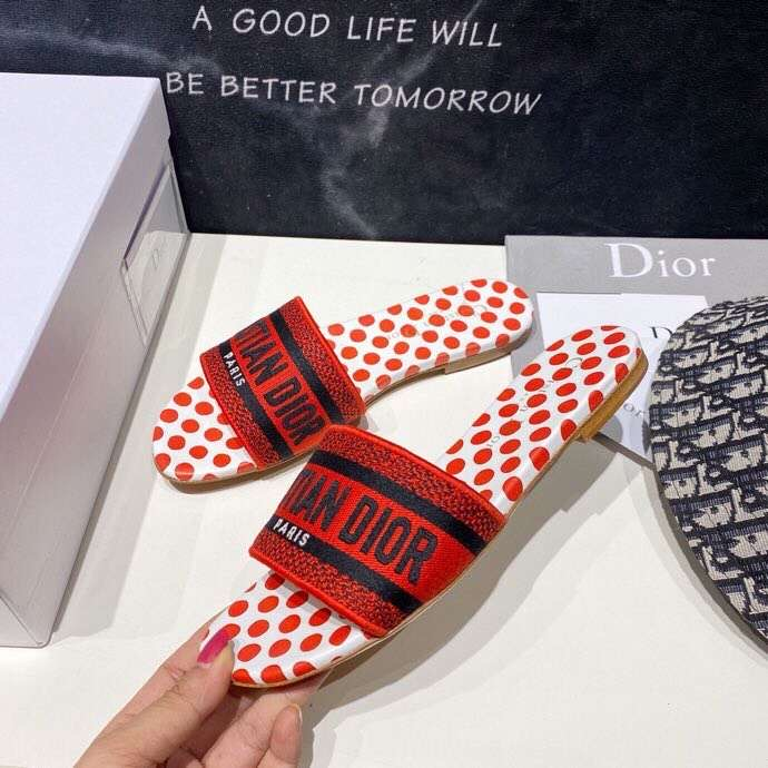 Christian Dots Open Toe Plain Mules - FashionBeast
