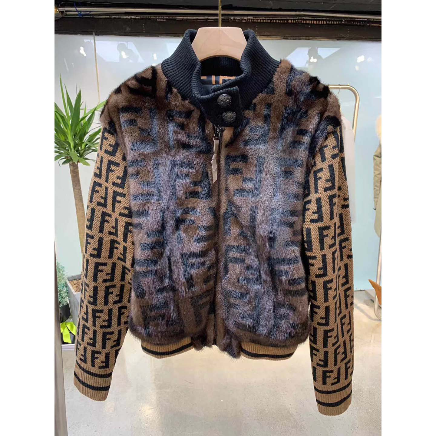 Knit and Inlaid Mink Fur Bomber Jacket - FashionBeast