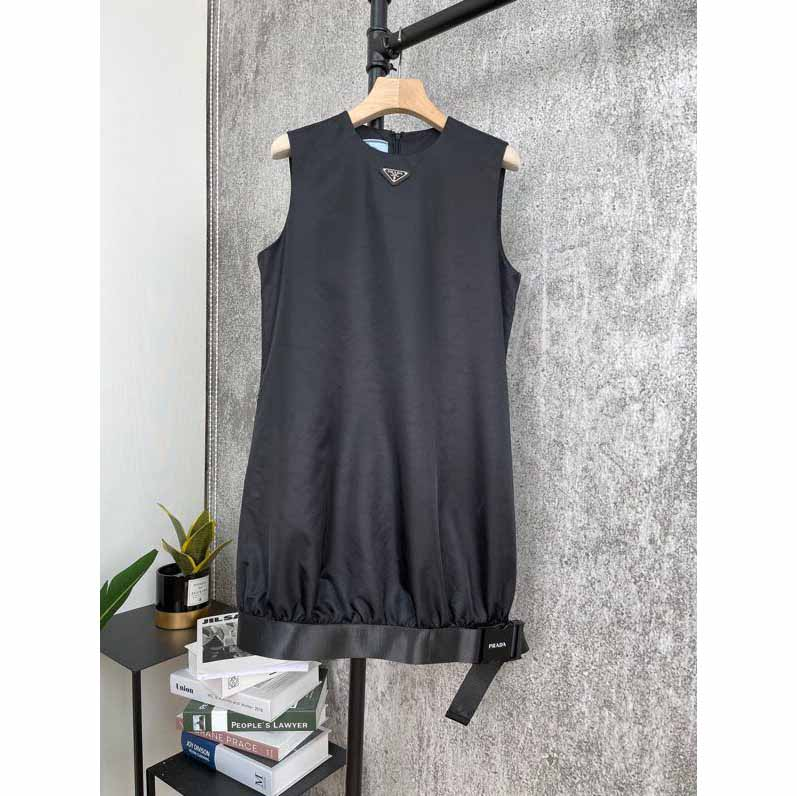Sleeveless Dress with Belted Buckle - FashionBeast