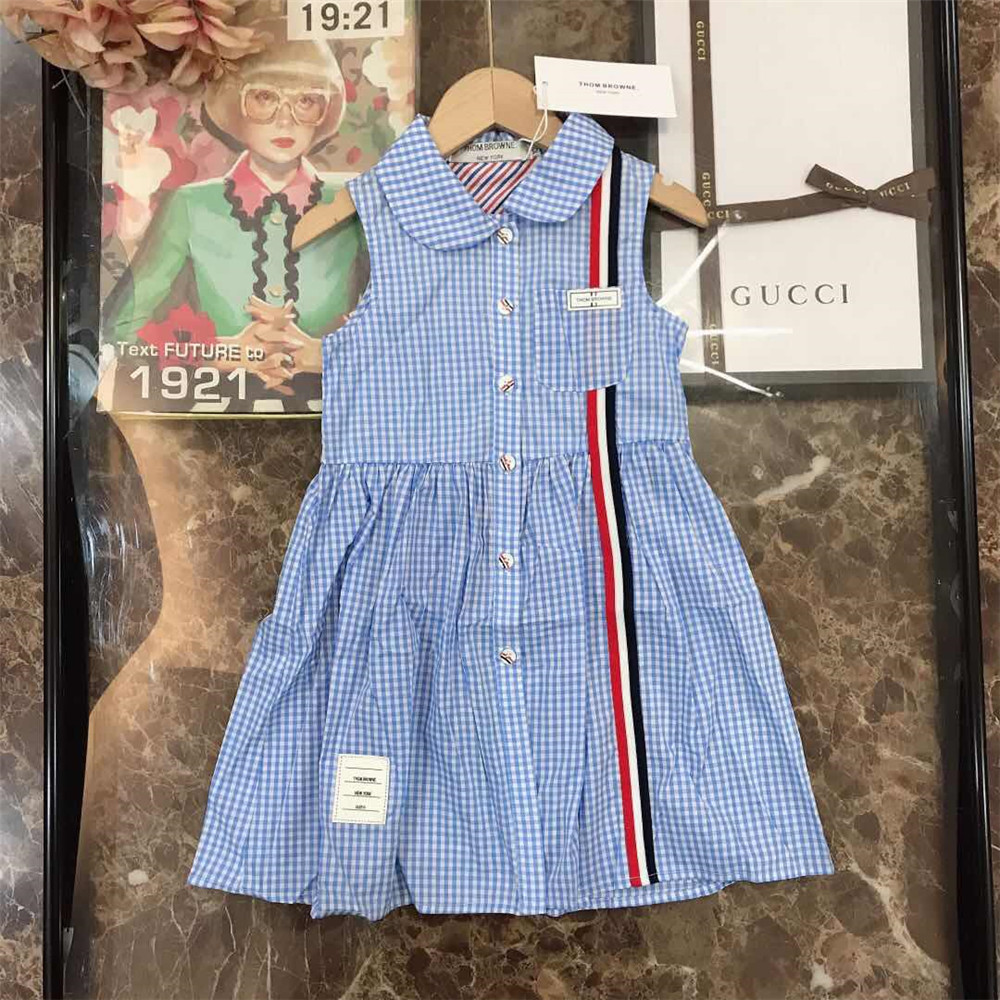 GG Plaid Kids Dress - FashionBeast