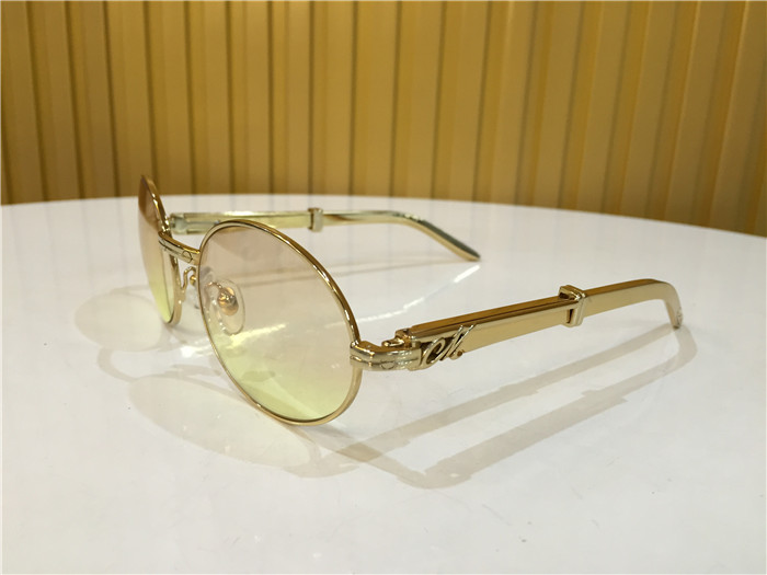 Miche 57-22 Gold Curve Stainless Steel Sunglasses in Gold Brown - FashionBeast