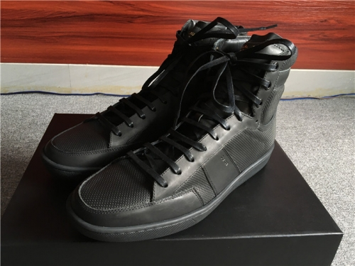 Limited Version Saint Laurent Black Leather High-Top Sneakers  - FashionBeast