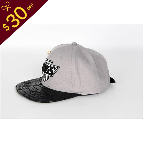 $30 Off Mitchell & Ness Official Snakeskin Cap in Grey - FashionBeast