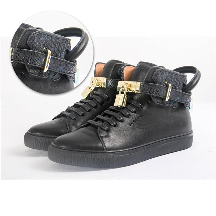 High-top Top Python Leather Sneaker - FashionBeast