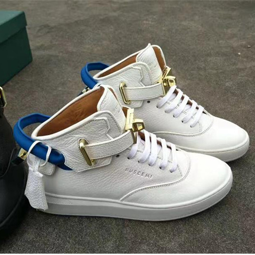 High-top Top White Leather Sneaker - FashionBeast