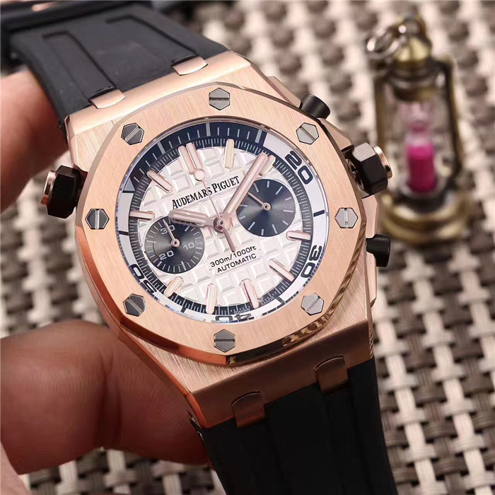 Audemars Piguet Royal Oak Offshore Jewelly Men Gold Color Dial Watch - FashionBeast