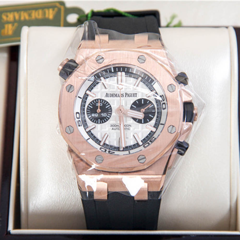 Audemars Piguet Royal Oak Offshore Jewelly Men Black Strap Watch - FashionBeast