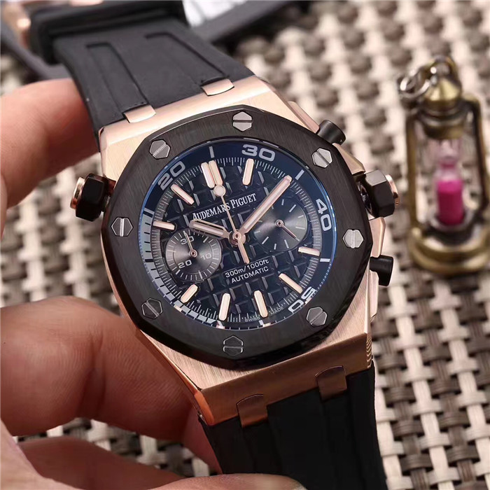 Audemars Piguet Royal Oak Offshore Jewelly Men Black Dial Watch - FashionBeast