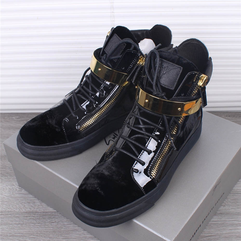 Giuseppe Zanotti Coby High Top Black Sneakers - FashionBeast