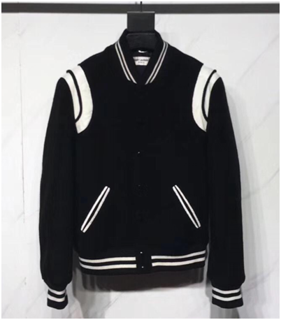 Saint Laurent Men's Black Varsity Jacket - FashionBeast