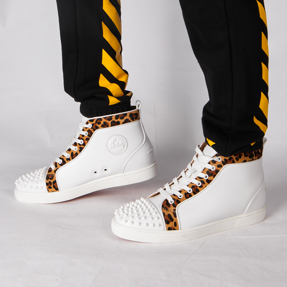 Made-to-order!!! Limited Version Christian Louboutin Louis Orlato Men's Flat Version Latte Pony Sneaker - FashionBeast