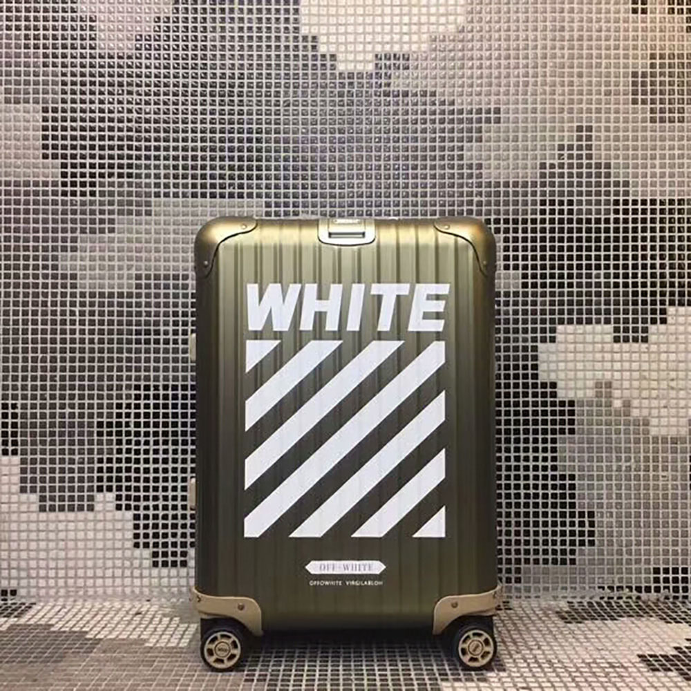 Off-White x Rimowa Limited Version Boarding Case 20 Inch(Gold) - FashionBeast