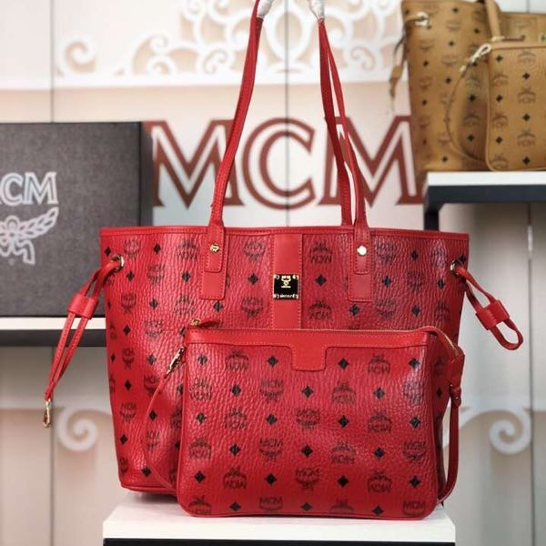 MCM mother bag red - FashionBeast