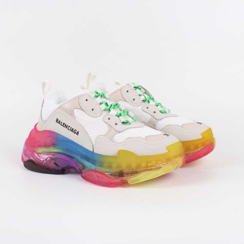 Triple S Clear Sole Trainers Rainbow Sneakers - FashionBeast