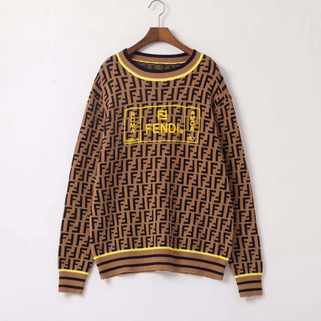 Brown Cotton Jersey Sweater - FashionBeast
