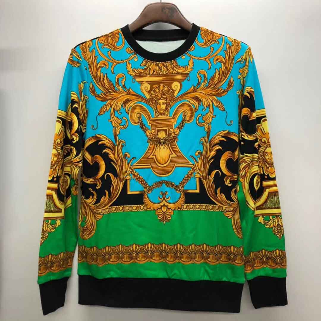 Medusa Palace Printed Cotton Sweatshirt in Green - FashionBeast