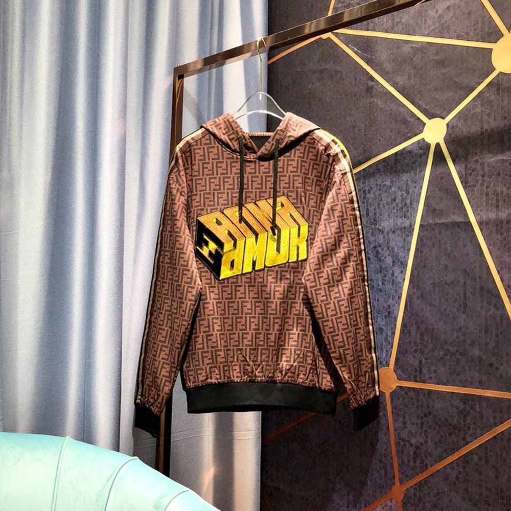 Fendi Roma Amor Brown Hoodies - FashionBeast