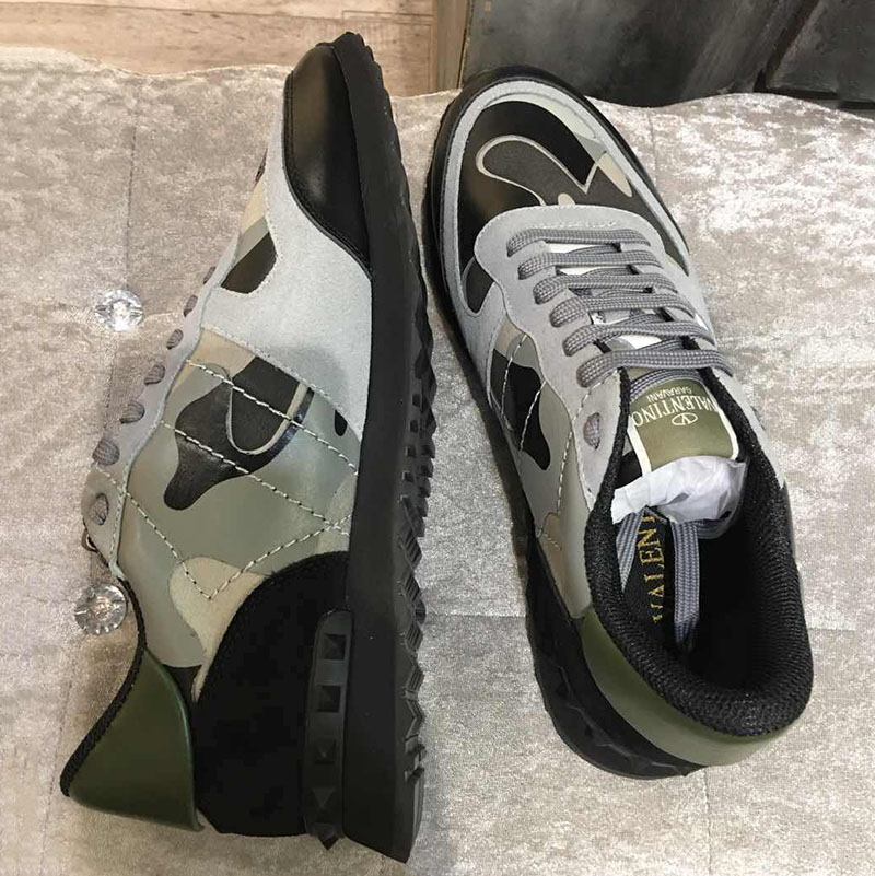 Camouflage Sneakers in Green/Black - FashionBeast
