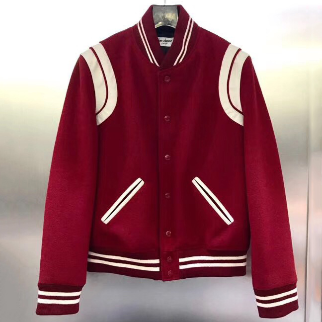 Saint Laurent Wool Varsity Jacket - FashionBeast